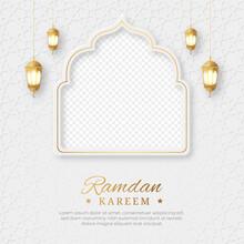 Ramadan Kareem Islamic Social Media Post With Empty Space For Photo, Ramadan Kareem Islamic Ornament Lantern Background