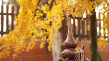 The Beautiful Autumn View In An Old Chinese Temple