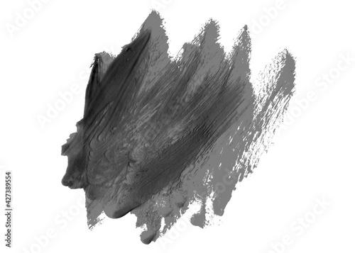 Fototapeta Unordentliches Pinsel Gekritzel mit schwarz grauer Farbe obraz