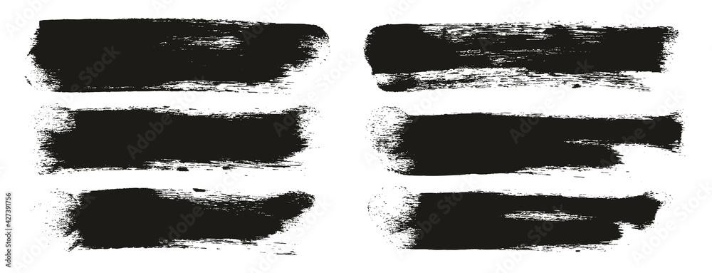 Fototapeta Round Sponge Thick Artist Brush Long Background High Detail Abstract Vector Background Set