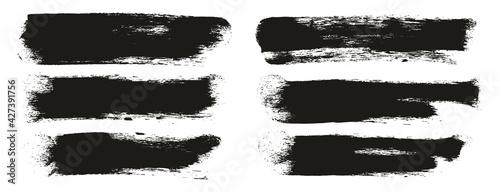Fototapeta Round Sponge Thick Artist Brush Long Background High Detail Abstract Vector Background Set  obraz