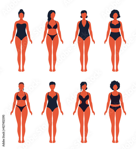 Fotografie, Obraz Swimwear variation set, swimsuit various designs