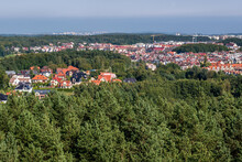Panorama Of Gdynia City In Poland, View From Donas Hill