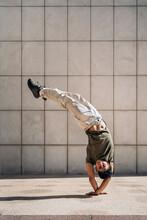 Hispanic Man Doing Break Dance