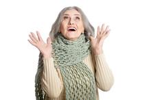 Portrait Of Beautiful Senior Woman  Posing