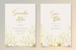 Set of elegant floral wedding invitation design