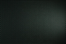 Background From Metal Rhombuses On Black And Chrome Metal