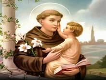Saint Anthony Of Padua Religion Faith Holy Illustration