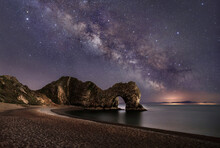 The Milky Way Over Durdle Door In Dorset
