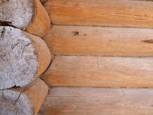 Antique Cylinder Wood Corner Assembly