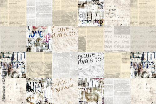 Fototapeta Newspaper paper grunge vintage old aged texture background obraz