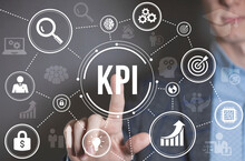 Internet, Business, Technology And Network Concept. KPI Key Performance Indicator For Business Concept