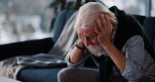 Old Unwell Caucasian Man Crying Over Retirement Letter Frustrating When Learning Bad News. Concept For Pensioner. Emotions.