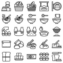 Bakery And Baking Related Line Icon Set 2