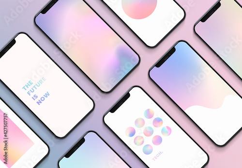 Smartphone Screen Mockup Set