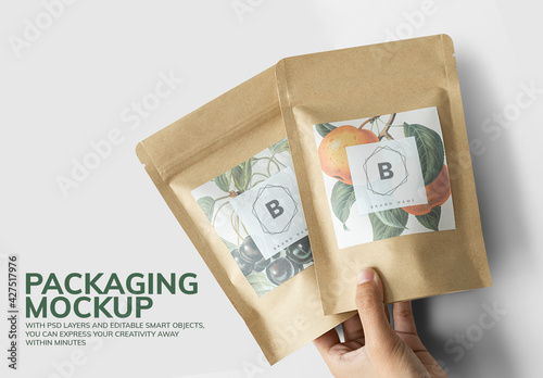 Organic Tea Packaging Mockup