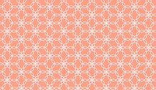 Abstract Floral White Line Mandala Pattern On Red Wallpaper Background