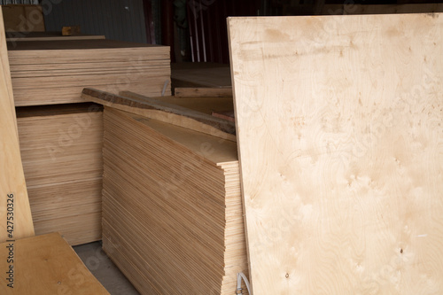 Obraz Plywood.Building material.The material is made of wood. - fototapety do salonu