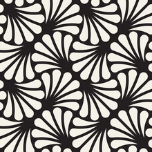 Vector Seamless Pattern. Repeating Geometric Design. Monochrome Modern Background.