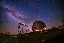 Special Astrophysical Observatory Against Starry Night Sky With Milky Way