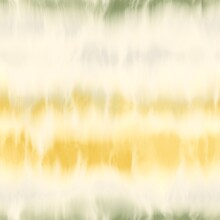Seamless Tie Dye Stripe Pattern For Fashion Print. High Quality Illustration. Faux Digital Render Of Horizontal Tie Dye Stripes With Creases. Vibrant Artistic Hippie Or Bohemian Culture Print.
