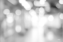 Blur Abstract  Black And White Bokeh Light Background, Vintage Tone