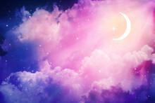 Night Sky And Moon,Ramadan Kareem.