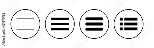 Canvas Print Menu Icon set. web menu icon. hamburger menu symbol