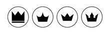 Crown Icon Set. Crown Vector Icon