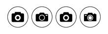 Camera Icon Set. Photo Camera Icon. Camera Photography Icon.
