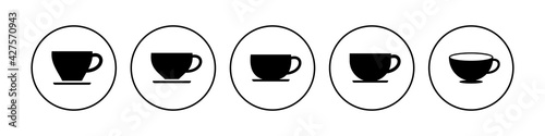 Canvastavla Coffee cup icon set. cup a coffee icon vector.