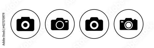 Obraz Camera icon set. photo camera icon. camera photography icon. - fototapety do salonu