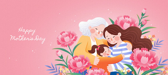 Generations gather on mother's day
