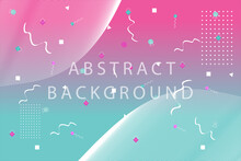 Colorful Abstract Geometric Background Template Design