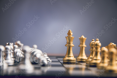 chess pieces on the board Fototapete