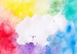 Watercolor Multicolored Shades Splashes Illustration for Grunge Design Vintage Cards Background