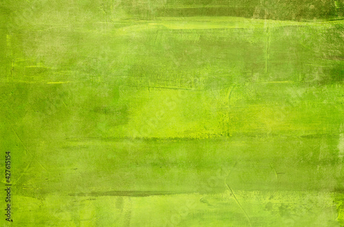 Abstract green canvas painting background - fototapety na wymiar