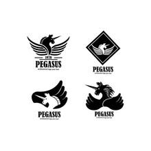 Pegasus Logo Concept Vector Icon Illustration