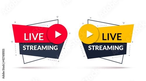 Fotografia, Obraz Live streaming sign