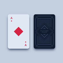 Ace Of Diamonds Playing Card Illustration