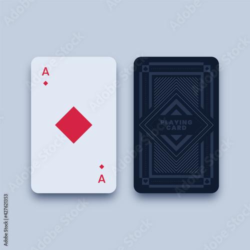 Fotografie, Obraz Ace of diamonds playing card illustration