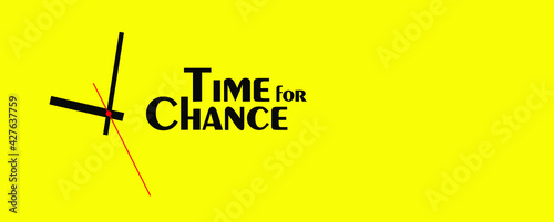 Tablou Canvas time for change sign on white background