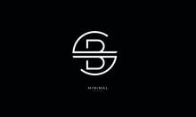 Alphabet Letter Icon Logo SB Or BS