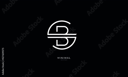 Obraz Alphabet letter icon logo SB or BS - fototapety do salonu