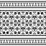 Fototapeta Kuchnia - Ukrainian and Belarusian Slavic folk art vector seamless pattern or print, traditional embroidery design