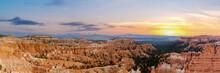 Bryce Canyon Nation Park, Utah, USA. Panoramic Image.