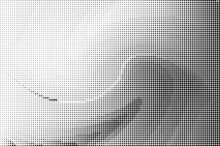 Perforated Panel. Abstract Monochrome Background. Halftone Pattern. Vector Illustration.