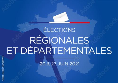 Fototapeta Élections régionales et départementales 2021 obraz