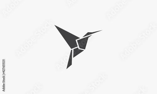 Fotografie, Tablou hummingbird vector illustration on white background