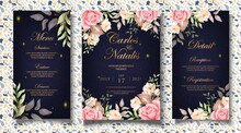 Luxury Floral Wedding Invitation Card Template